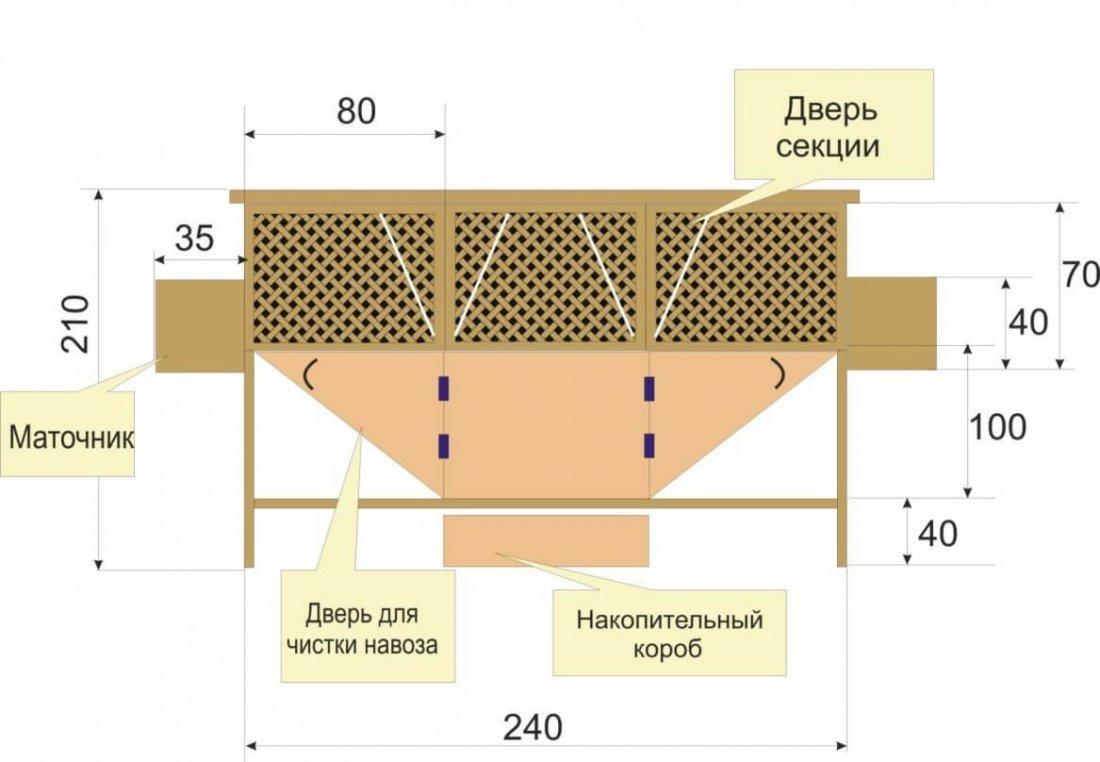 Размеры клетки для самостоятельного изготовления