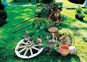 Красивый сад и огород из подручных материалов: топ самых удачных и простых идей