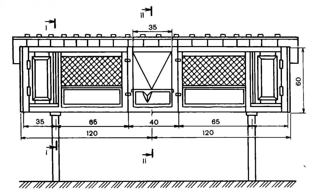Схема комбинированной клетки