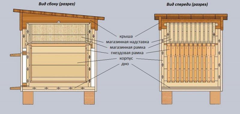 Схема улья