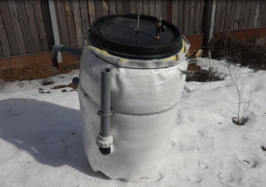 Биогазовая установка из бочки
