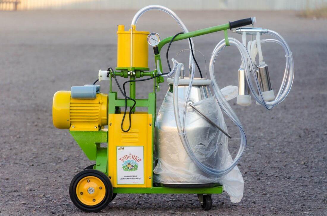 Бытовой доильный аппарат для коров