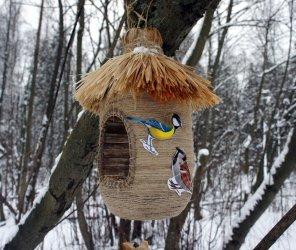 Изготовление кормушек для птиц своими руками: популярные виды конструкций