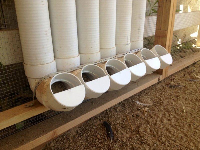 Кормушка для бройлеров из ПВХ трубы