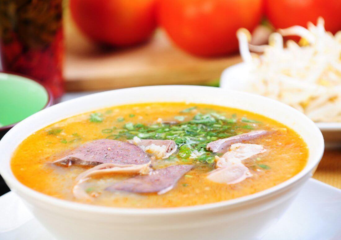 Суп из мяса утки
