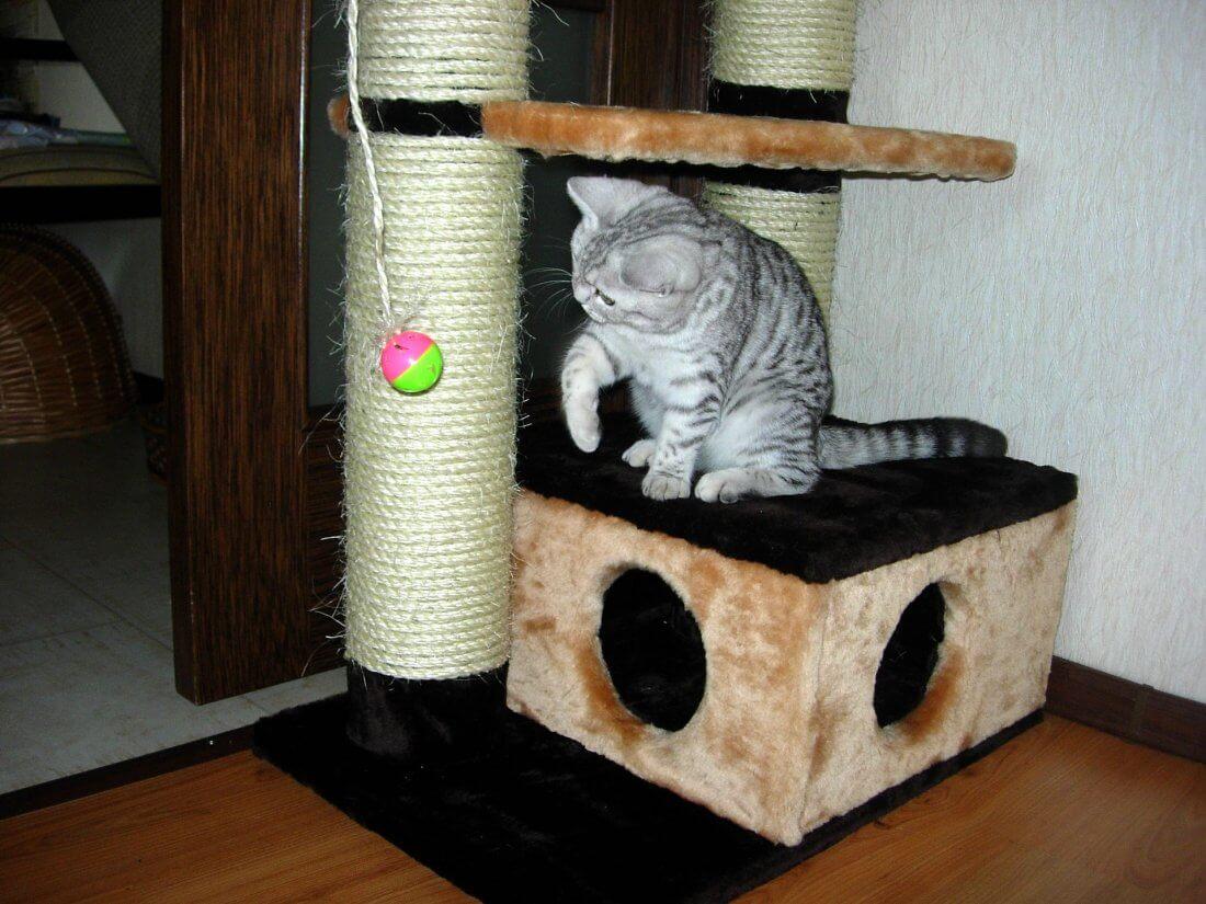 Домик для кота с когтеточкой