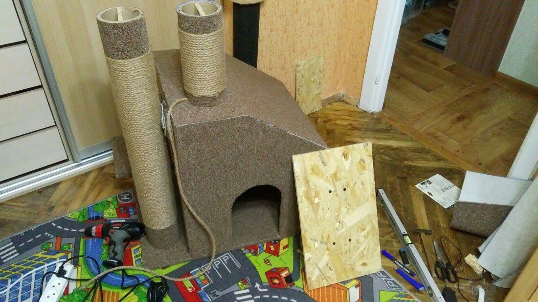 Самостоятельное изготовление домика для кота