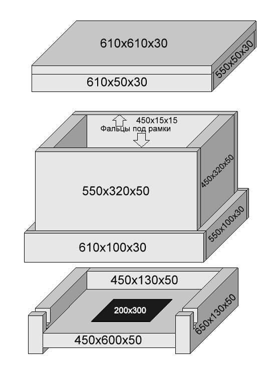 Схема сборки улья из пенополистирола