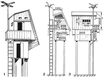 Схема постройки голубятни